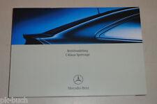 Betriebsanleitung Mercedes Benz C-Klasse Sportcoupé CL203 Coupe Stand 12/2004