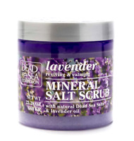 Dead Sea Collection Lavender Oil Mineral Salt Bath Body Scrub Large 660 g