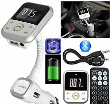 Kit para auto inalámbrico transmisor FM Bluetooth manos libres LCD SD USB reproductor MP3 remoto
