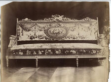 ANTIQUE UNMOUNTED ALBUMEN LOUIS XV STYLE COUCH.
