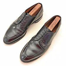 "$395 ALLEN EDMONDS ""Kingsley"" Split Toe Black Dress Shoes / Oxford - Size 9.5 D"