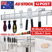 Magnetic Knife Tool Holder Knives Kitchen Magnet Shelf Wall Mount Rack Chef AU