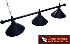 QUALITY Pool Snooker Billiard Table Light Black with 3 x Black Shades 1.5m