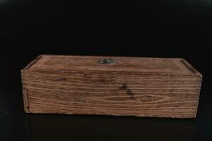 L763: Japanese Old Wooden Lacquer ware INKSTONE CASE Box Calligraphy tool