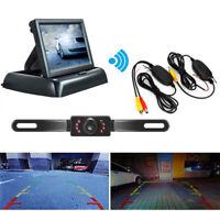 Wireless Car Reverse Rear View Backup Night Vision Camera Kit+TFT LCD Monitor SD