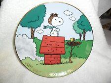 """Vintage Danbury Mint Peanuts Magical Moments """"Just Wait Until Next Time,.""""Plate"""