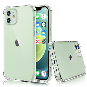 CLEAR Silicone Shockproof Case Cover For iPhone 12 11 Pro Max XR X XS Max 8 7 6