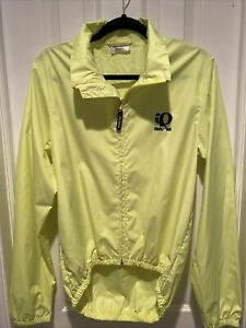 Pearl Izumi Women's Cycling Wind Jacket Size Medium Yellow Fluorescent Neon