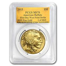 2015 1 oz Gold Buffalo MS-70 PCGS (FS, Gold Foil) - SKU #89165