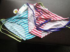 striped miss fiori bikini bottoms (pack 2 ) size 16