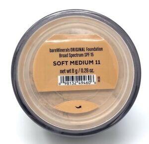 BareMinerals bareescentuals Loose Face Powder original Foundation SOFT MEDIUM 11