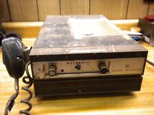 Vintage Motorola Desktop Base Station Two way radio + Mic