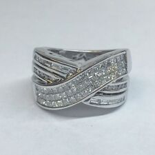 2.50 CARAT F VS2 HALF WAY ROUND AND PRINCESS CUT DIAMOND WEDDING BAND SET IN 18K