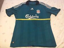 Liverpool FC 2008 Third 3rd Shirt 42 Inch Chest Original Green Football Jersey