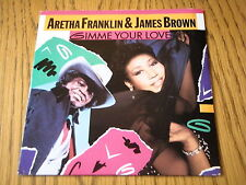 """ARETHA FRANKLIN & JAMES BROWN - GIMME YOUR LOVE  7"""" VINYL PS"""