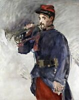 The Bugler by French  Edouard Manet. War Art .  11x14 Print