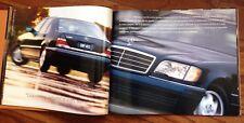 1999 Mercedes Benz S Class PRESTIGE Brochure Sales S500 S600 S420 S320 W140 1998