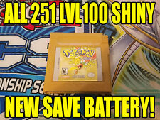 POKEMON GOLD All 251 SHINY GAME UNLOCKED AUTHENTIC & NEW BATTERY!
