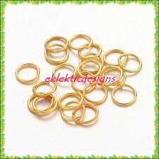 6mm 100pcs Gold Plated Jump Rings Jewelry Findings Open Split Earring Necklace
