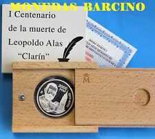 2001 ESPAÑA  2000 PESETAS PLATA LEOPOLDO ALAS  CLARIN   REAL CASA DE LA MONEDA