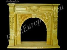 BEAUTIFUL HAND CARVED MARBLE FIREPLACE MANTEL TLE001