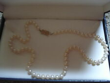 "MIKIMOTO SEA MAGIC CULTURED PEARL 18"" NECKLACE 14K CLASP"