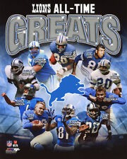 DETROIT LIONS All-Time Greats Glossy 8x10 Photo Sanders Lane Sims Johnson Lary