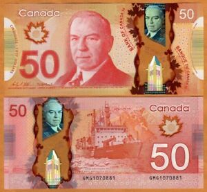 Bank of Canada, $50, 2012, Polymer, P-109c, UNC
