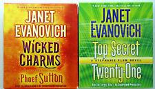 Wicked Charms & Top Secret Twenty-One Janet Evanovich Audio CD lot of 2