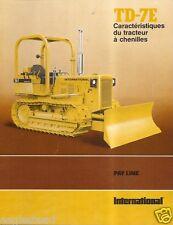 Equipment Brochure - International - Ih - Td-7E Crawler Tractor - French (E1863)