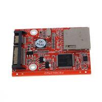 New Adapter SD SDHC MMC Card To SATA 7 15pin HDD Hard Disk Drive Converter Hot