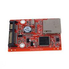 Nuevo Adaptador Sd Sdhc Mmc Card A Sata 7 15 Pin Hdd Disco Duro Convertidor Hot