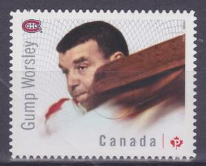 Canada 2015 #2870 Great Canadian Goalies (Gump Worsley) - die cut Unused
