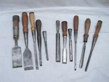 Lot Early Woodworking Carving Chisels Wood Tools Bevel Gouge Greenlee Witherby