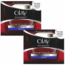 2 Olay Regenerist 3 Point Moisturiser AntiAgeing Night Cream UltraHydrating 50ml