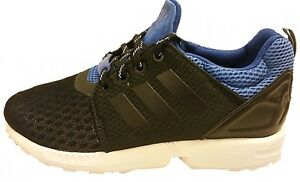Adidas kids ZX FLUX NPS UPDT Originals trainer BLACK/ROYAL BLUE S82706 UK 12-6.5