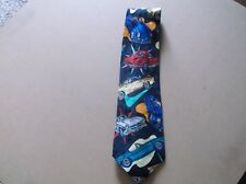 Addiction Classic Cars Tie,100% Silk,Handmade