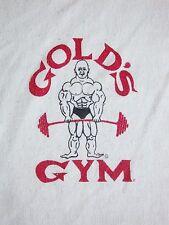 Vintage Gold's Gym Bodybuilding Workout Muscle Half Sleeve V-Neck T Shirt S