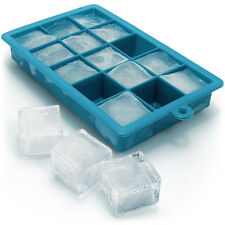 1x Flexible Silicone Ice Cube Tray 15 Square Ice Cube Maker Pudding Jelly Mould