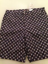 Vince Men's Blue & White Patterned Shorts, Size 36