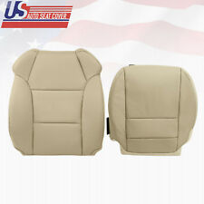 Fits 2007 - 2013 Acura MDX Passenger Top & Bottom Genuine Leather Seat Cover TAN