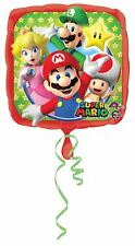 Super Mario Bros Estándar Globo Metalizado 43.2cm Fiesta Celebración