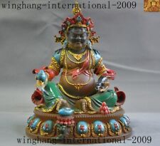 Tibet temple glass Painting Gold wealth God Yellow Jambhala Mammon Buddha statue