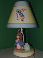 Beatrix Potter Peter Rabbit Nursery Lamp Rare Luv N' Care Edition EUC Decor 2001