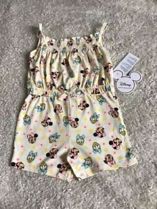 Primark Disney Minnie Mouse And Daisy Duck Summer Jumpsuit 9-12 Months