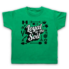 LOYAL TO THE SOIL GARDENING SLOGAN LOVE GARDEN FUNNY MENS WOMENS KIDS T-SHIRT