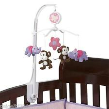 Little Bedding by NOJO Tumble Jungle Monkey, Elephant, Flower Musical Mobile