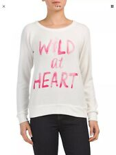 """NWT CHASER """"Wild At Heart"""" Size Small Vintage Style Pullover Sweatshirt $98"""