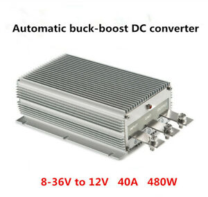 Car battery lead-acid battery charger power converter 8-36V to 12V 40A 480W
