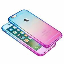 Full Body Silicone Protective Clear Case Cover For iPhone 7/7 Plus 6s 5 SE